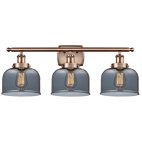 Innovations Lighting 916-3W-AC-G73-LED Large Bell LED 26 inch Antique Copper Bath Vanity Light Wall Light