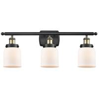 Innovations Lighting 916-3W-BAB-G51 Small Bell 3 Light 26 inch Black Antique Brass Bath Vanity Light Wall Light