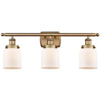 Innovations Lighting 916-3W-BB-G51 Small Bell 3 Light 26 inch Brushed Brass Bath Vanity Light Wall Light
