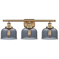 Innovations Lighting 916-3W-BB-G73-LED Large Bell LED 26 inch Brushed Brass Bath Vanity Light Wall Light