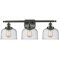 Innovations Lighting 916-3W-OB-G74 Large Bell 3 Light 26 inch Oil Rubbed Bronze Bath Vanity Light Wall Light, Ballston