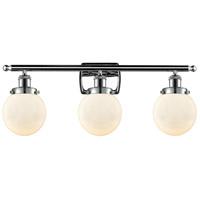 Innovations Lighting 916-3W-PC-G201-6 Beacon 3 Light 26 inch Polished Chrome Bath Vanity Light Wall Light, Ballston