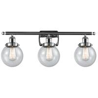 Innovations Lighting 916-3W-PC-G204-6 Beacon 3 Light 26 inch Polished Chrome Bath Vanity Light Wall Light, Ballston
