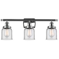 Innovations Lighting 916-3W-PC-G52 Small Bell 3 Light 26 inch Polished Chrome Bath Vanity Light Wall Light, Ballston