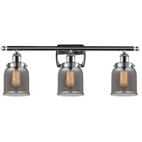 Innovations Lighting 916-3W-PC-G53-LED Small Bell LED 26 inch Polished Chrome Bath Vanity Light Wall Light Ballston