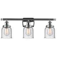 Innovations Lighting 916-3W-PC-G54 Small Bell 3 Light 26 inch Polished Chrome Bath Vanity Light Wall Light, Ballston