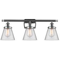 Innovations Lighting 916-3W-PC-G62 Small Cone 3 Light 26 inch Polished Chrome Bath Vanity Light Wall Light, Ballston