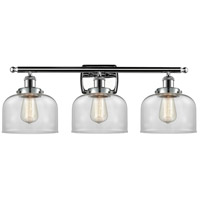 Innovations Lighting 916-3W-PC-G72 Large Bell 3 Light 26 inch Polished Chrome Bath Vanity Light Wall Light, Ballston
