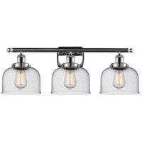 Innovations Lighting 916-3W-PC-G74 Large Bell 3 Light 26 inch Polished Chrome Bath Vanity Light Wall Light, Ballston