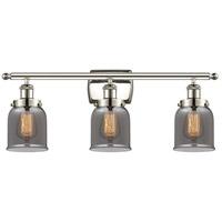 Innovations Lighting 916-3W-PN-G53-LED Small Bell LED 26 inch Polished Nickel Bath Vanity Light Wall Light