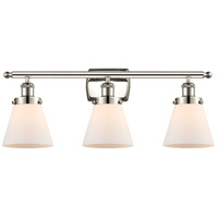 Innovations Lighting 916-3W-PN-G61 Small Cone 3 Light 26 inch Polished Nickel Bath Vanity Light Wall Light