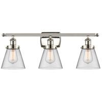 Innovations Lighting 916-3W-PN-G62 Small Cone 3 Light 26 inch Polished Nickel Bath Vanity Light Wall Light