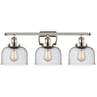Innovations Lighting 916-3W-PN-G74 Large Bell 3 Light 26 inch Polished Nickel Bath Vanity Light Wall Light