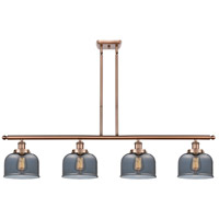 Innovations Lighting 916-4I-AC-G73 Large Bell 4 Light 48 inch Antique Copper Island Light Ceiling Light