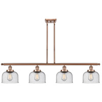 Innovations Lighting 916-4I-AC-G74 Large Bell 4 Light 48 inch Antique Copper Island Light Ceiling Light