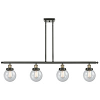 Innovations Lighting 916-4I-BAB-G204-6 Beacon 4 Light 48 inch Black Antique Brass Island Light Ceiling Light