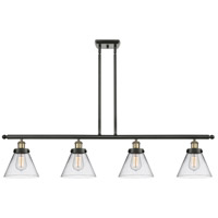 Innovations Lighting 916-4I-BAB-G42 Large Cone 4 Light 48 inch Black Antique Brass Island Light Ceiling Light