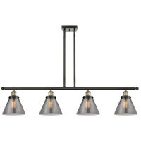 Innovations Lighting 916-4I-BAB-G43 Large Cone 4 Light 48 inch Black Antique Brass Island Light Ceiling Light