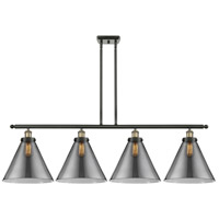 Innovations Lighting 916-4I-BAB-G43-L X-Large Cone 4 Light 48 inch Black Antique Brass Island Light Ceiling Light