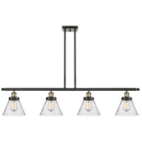 Innovations Lighting 916-4I-BAB-G44 Large Cone 4 Light 48 inch Black Antique Brass Island Light Ceiling Light