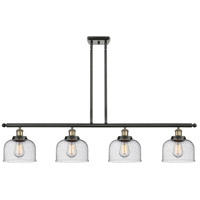 Innovations Lighting 916-4I-BAB-G74 Large Bell 4 Light 48 inch Black Antique Brass Island Light Ceiling Light