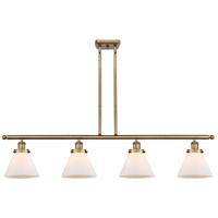 Innovations Lighting 916-4I-BB-G41 Large Cone 4 Light 48 inch Brushed Brass Island Light Ceiling Light