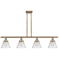 Innovations Lighting 916-4I-BB-G42 Large Cone 4 Light 48 inch Brushed Brass Island Light Ceiling Light