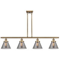 Innovations Lighting 916-4I-BB-G43 Large Cone 4 Light 48 inch Brushed Brass Island Light Ceiling Light