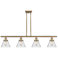 Innovations Lighting 916-4I-BB-G44 Large Cone 4 Light 48 inch Brushed Brass Island Light Ceiling Light