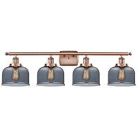 Innovations Lighting 916-4W-AC-G73-LED Large Bell LED 36 inch Antique Copper Bath Vanity Light Wall Light