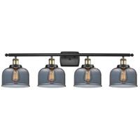 Innovations Lighting 916-4W-BAB-G73-LED Large Bell LED 36 inch Black Antique Brass Bath Vanity Light Wall Light