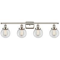 Innovations Lighting 916-4W-PN-G202-6-LED Beacon LED 36 inch Polished Nickel Bath Vanity Light Wall Light