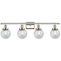 Innovations Lighting 916-4W-PN-G204-6-LED Beacon LED 36 inch Polished Nickel Bath Vanity Light Wall Light