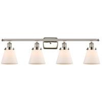 Innovations Lighting 916-4W-PN-G61-LED Small Cone LED 36 inch Polished Nickel Bath Vanity Light Wall Light