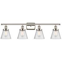 Innovations Lighting 916-4W-PN-G64-LED Small Cone LED 36 inch Polished Nickel Bath Vanity Light Wall Light