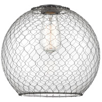 Innovations Lighting G122-10CBK Large Farmhouse Chicken Wire Shade Finish Matte Black 10 inch Glass Ballston