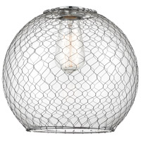 Innovations Lighting G122-10CSN Large Farmhouse Chicken Wire Shade Finish Brushed Satin Nickel 10 inch Glass Ballston