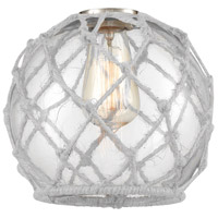 Innovations Lighting G122-8RW Farmhouse Rope Clear Farmhouse Glass with White Rope 8 inch Glass Ballston
