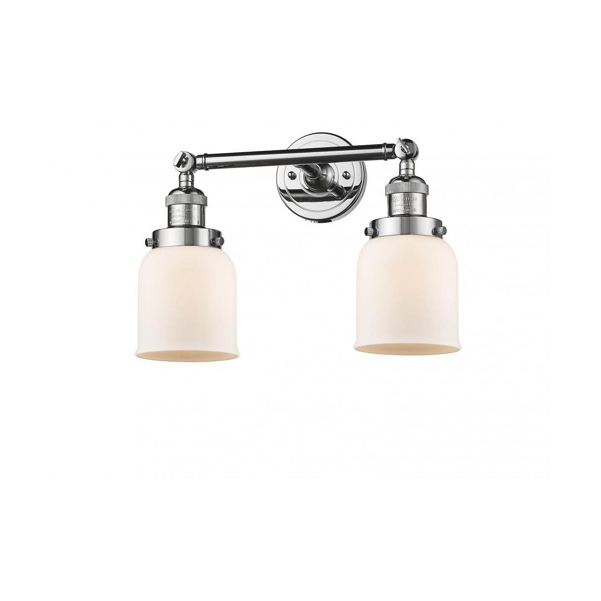 Avalon Polished Chrome Bathroom Vanity Ceiling Lights: Innovations Lighting 208-PC-G51 Small Bell Bathroom Vanity