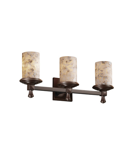 Justice Design Alabaster Rocks Deco 3-Light Bath Bar in Dark Bronze ALR-8533-10-DBRZ photo