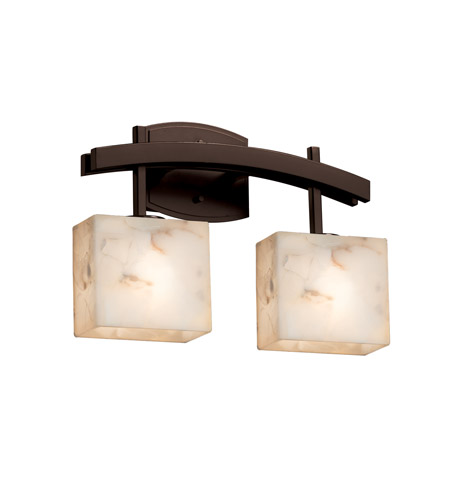 Dark Bronze Vanity Lights : Justice Design ALR-8592-55-DBRZ Alabaster Rocks 2 Light 16 inch Dark Bronze Vanity Light Wall ...