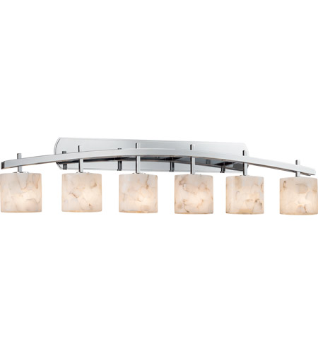 Justice Design ALR-8596-30-CROM Archway 6 Light 57 inch Polished Chrome Vanity Light Wall Light in Oval, Incandescent