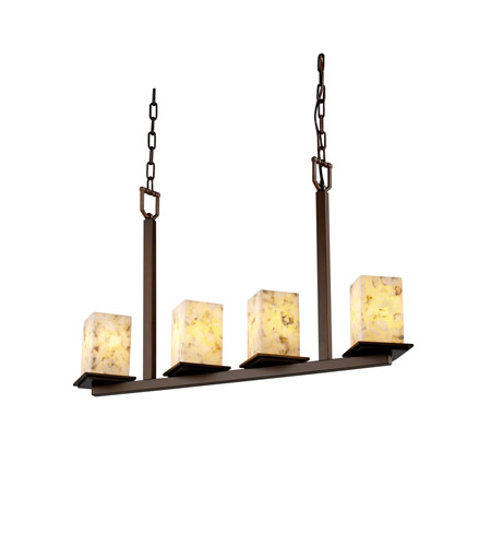 Justice Design ALR-8678-15-DBRZ Alabaster Rocks 4 Light 7 inch Dark Bronze Chandelier Ceiling Light photo