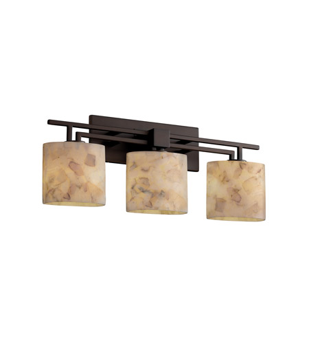 Justice Design Alabaster Rocks Aero 3-Light Bath Bar in Dark Bronze ALR-8703-30-DBRZ photo
