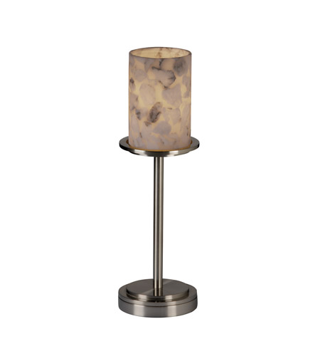 Justice Design Alabaster Rocks Dakota 1-Light Table Lamp (Tall) in Brushed Nickel ALR-8799-10-NCKL photo