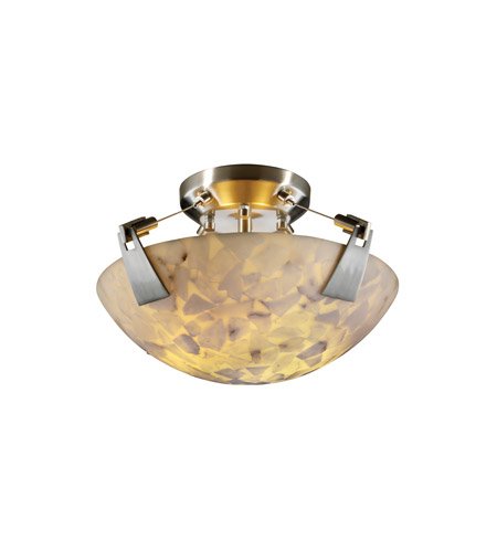Justice Design ALR-9630-35-NCKL Alabaster Rocks 2 Light 21 inch Brushed Nickel Semi-Flush Bowl Ceiling Light in Round Bowl photo