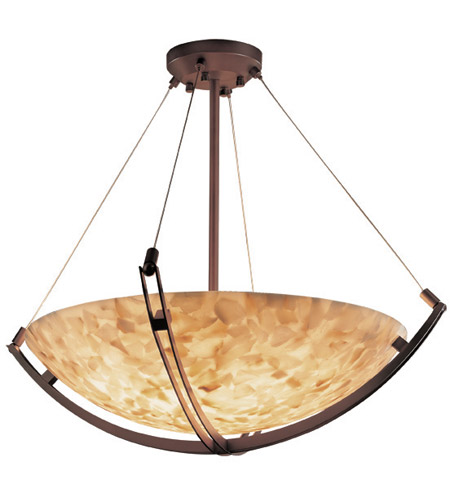 Justice Design ALR-9721-35-DBRZ Alabaster Rocks 3 Light 21 inch Dark Bronze Pendant Bowl Ceiling Light in Round Bowl photo