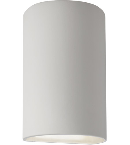 Justice Design Group Ambiance Small Cylinder Outdoor Wall Sconce in Bisque CER-0940W-BIS photo