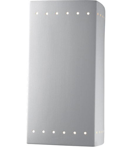 Justice Design Group Ambiance Large Rectangle w/ Perfs Outdoor Wall Sconce in Bisque CER-0960W-BIS photo