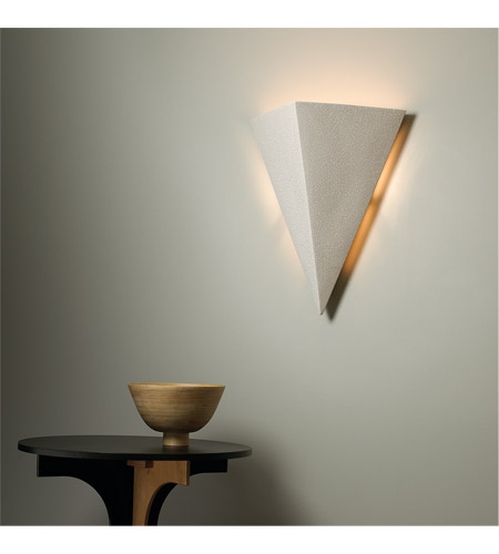 Justice Design CER-1140-TERA Ambiance Triangle 2 Light 20 inch Terra Cotta Wall Sconce Wall Light in Incandescent, Really Big CER-1140-CRK_INSTAL.jpg